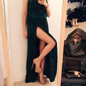 Karina Grimaldi high slit dress
